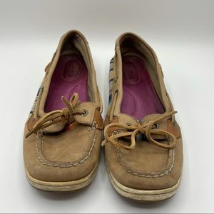 Sperry Rainbow Fabric Leather Boat Shoes